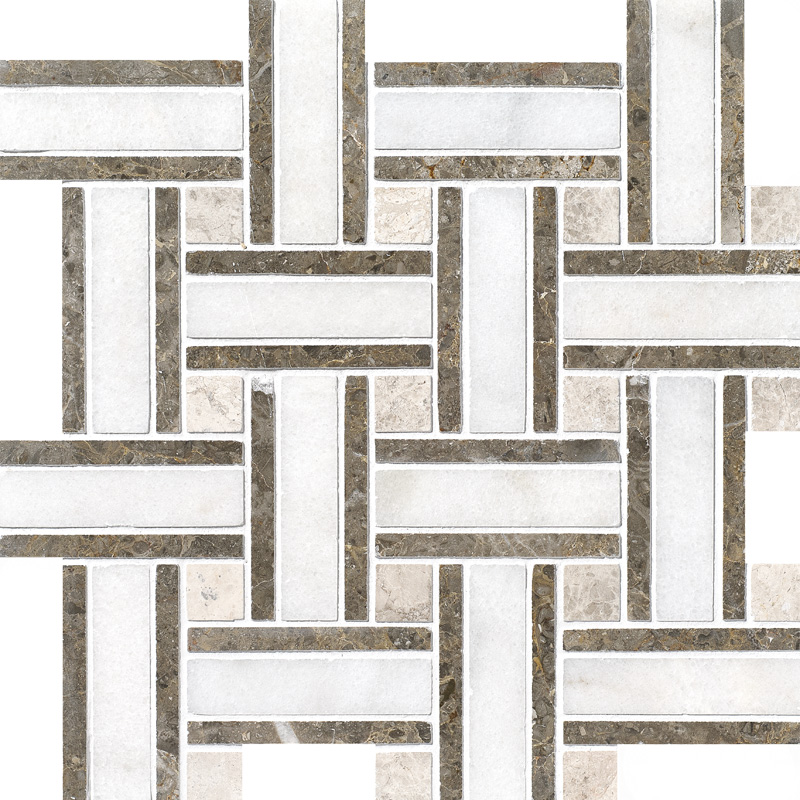 Avalon Polished 30,5x30,5 Lattice Marble Mosaics