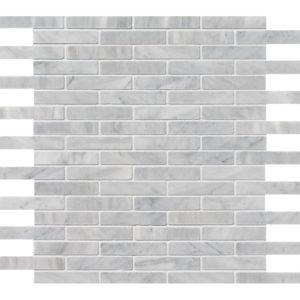 Avenza Honed 5/8x3 Marble Mosaics 30,5x30,5