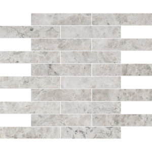 Silver Shadow Honed 3x15,2 Marble Mosaics 30,5x30,5