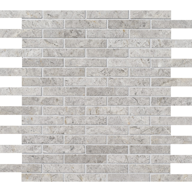 Silver Shadow Honed 1,5×7,6 Marble Mosaics 30,5×30,5