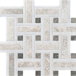 Silver Shadow Honed Lattice Marble Mosaics 30,5x30,5