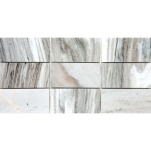 Verona Polished Subway On Mesh Marble Mosaics 21,5x42,5