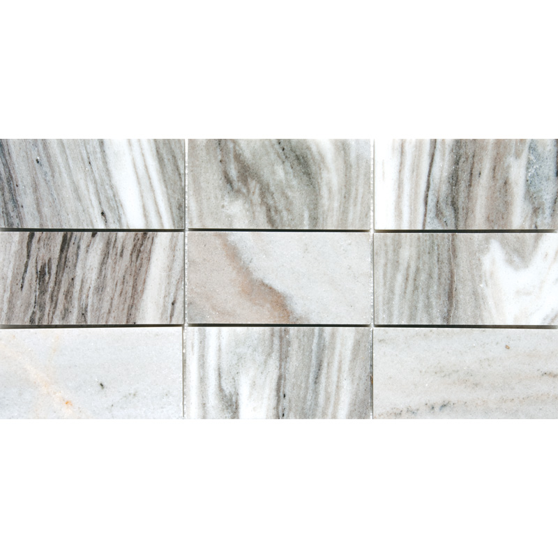 Verona Polished 21,5x42,5 Subway On Mesh 2 3/4x5 1/2 Marble Mosaics