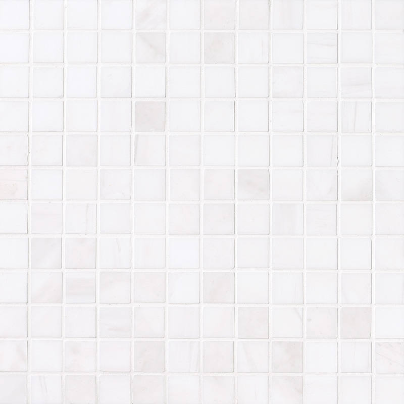 Snow White Polished 30,5x30,5 1x1 Marble Mosaics