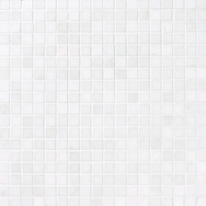 Snow White Polished 1,5x1,5 Marble Mosaics 30,5x30,5
