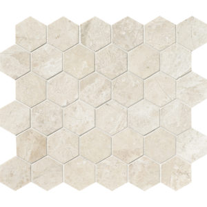 Diana Royal Honed Hexagon Marble Mosaics 26,5x31