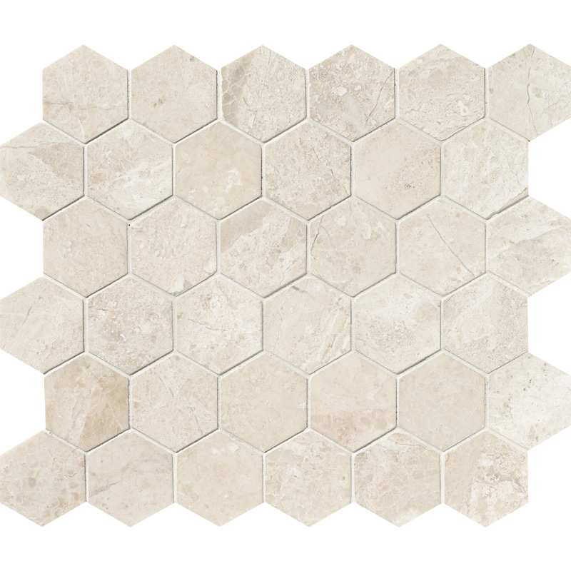 Diana Royal Honed 26,5x31 Hexagon Marble Mosaics
