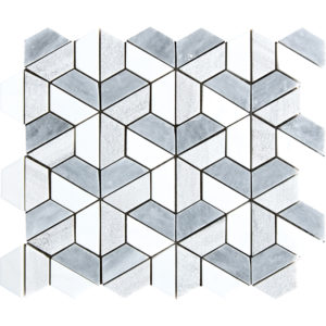 Multicolor Textured 3d Hexagon Marble Mosaics 26,5x31