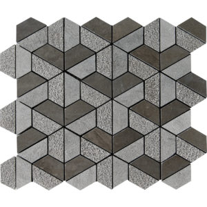 Bosphorus Textured Hexagon Marble Mosaics 26,5x31