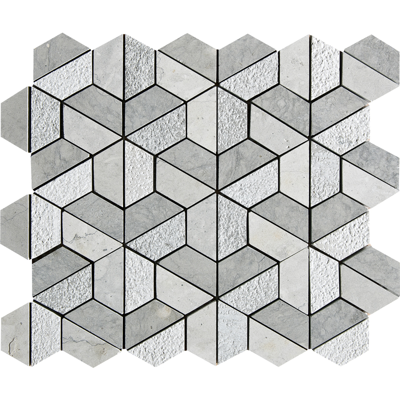 Britannia Blend Textured 26,5x31 Hexagon Marble Mosaics