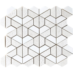 Diana Royal&snow White Textured Hexagon Marble Mosaics 26,5x31