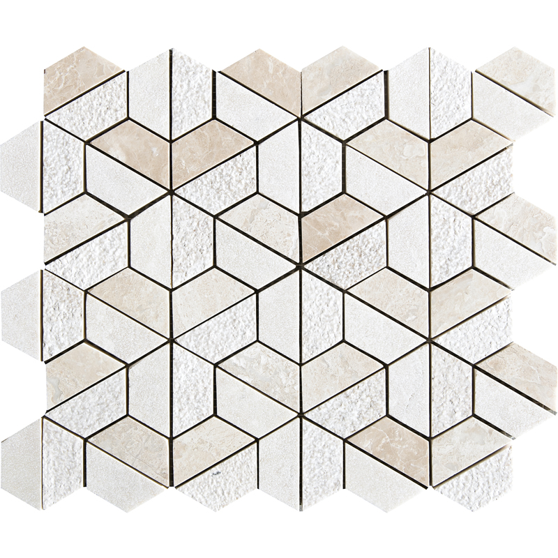 Diana Royal Textured 30,5x30,5 Hexagon Marble Mosaics