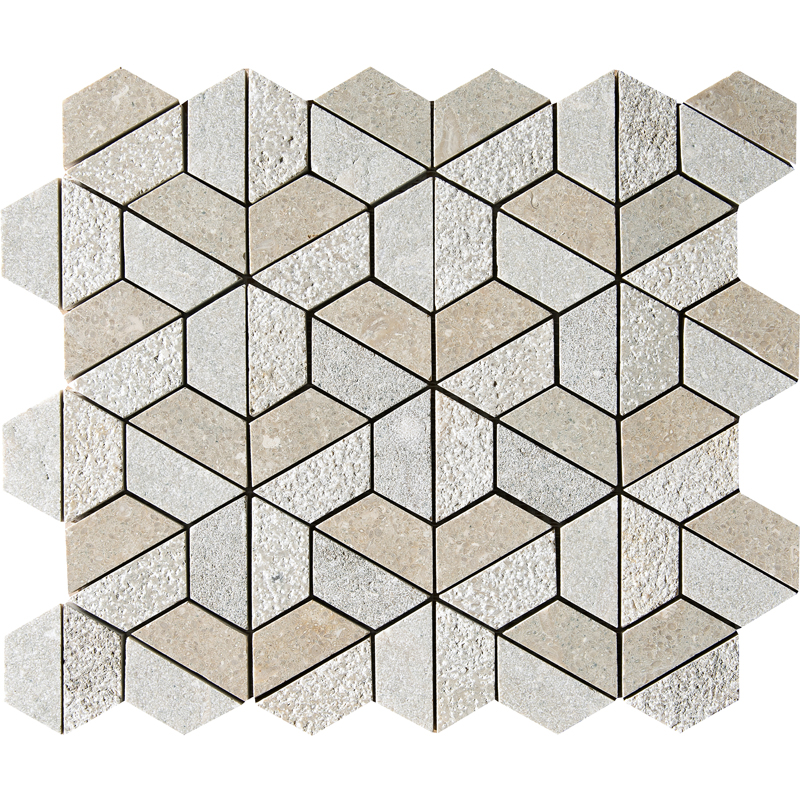 Olive Green Textured 30,5x30,5 Hexagon Marble Mosaics