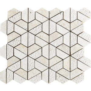Seashell Textured Hexagon Marble Mosaics 26,5x31