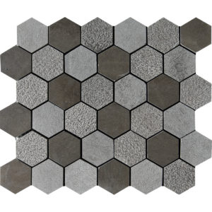 Bosphorus Textured Hexagon Limestone Mosaics 26,5x31