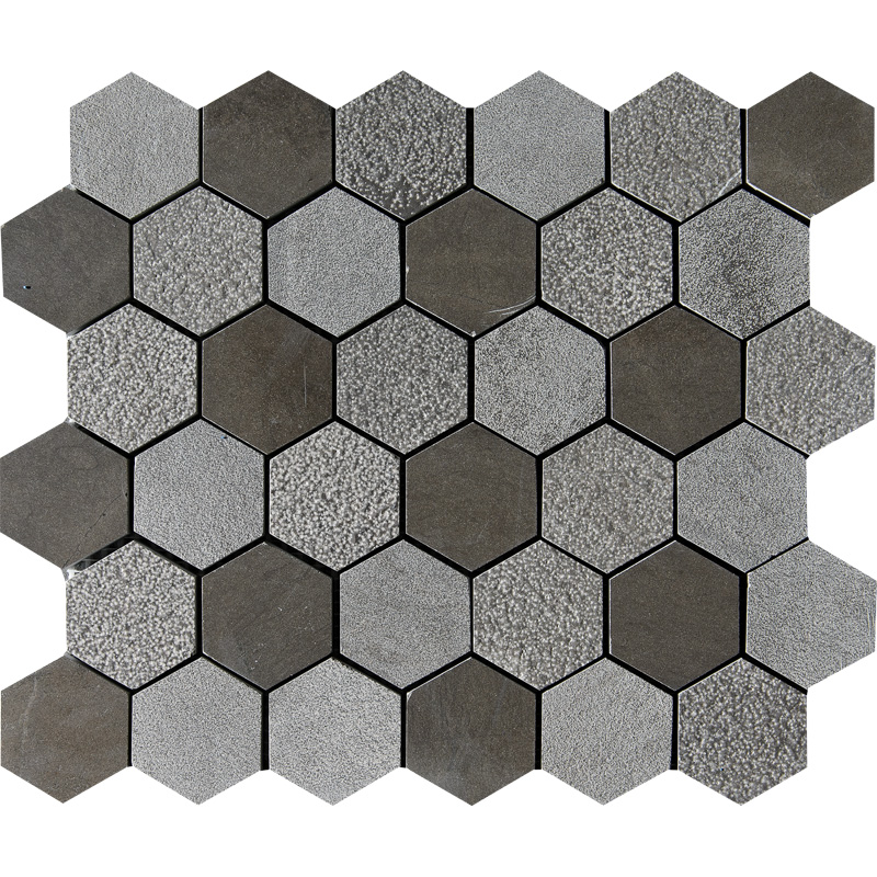 Bosphorus Textured 26,5x31 Hexagon Limestone Mosaics