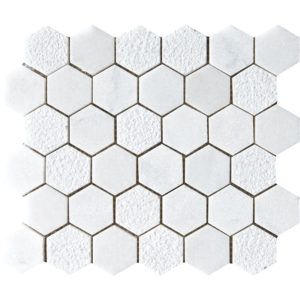Glacier Textured Hexagon Marble Mosaics 26,5x31