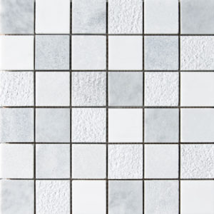 Avenza&snow White&allure Textured 2x2 Marble Mosaics 30,5x30,5