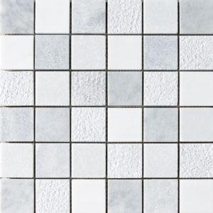 Avenza&snow White&allure Textured 5x5 Marble Mosaics 30,5x30,5