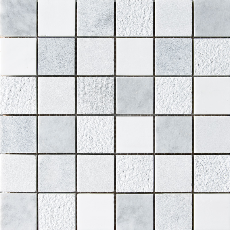 Avenza&snow White&allure Textured 30,5x30,5 2x2 Marble Mosaics