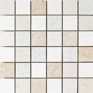 Champagne&seashell&heartsmere Textured 5x5 Limestone Mosaics 30,5x30,5