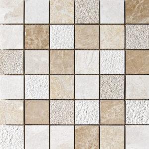 Diana Royal&paradise&seashell Textured 5x5 Marble Mosaics 30,5x30,5