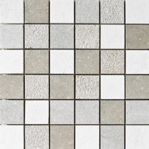 Olive Green&champagne Textured 5x5 Limestone Mosaics 30,5x30,5