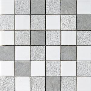Snow White&britannia Textured 5x5 Marble Mosaics 30,5x30,5