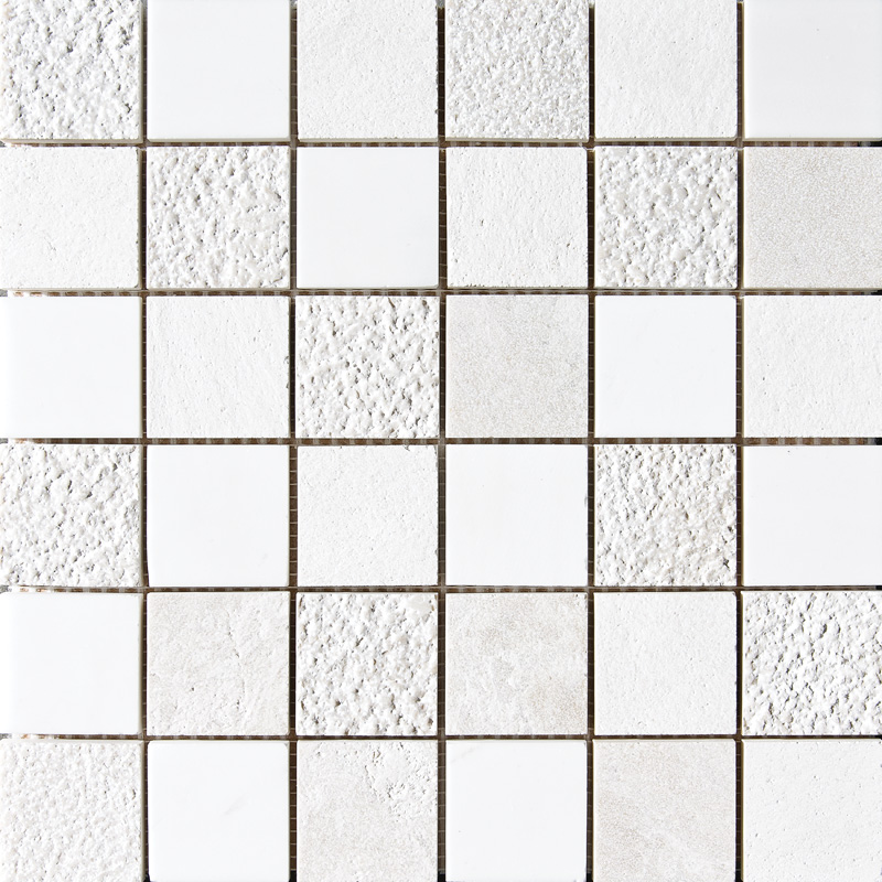 Snow White&champagne&diana Royal Textured 5×5 Marble Mosaics 30,5×30,5