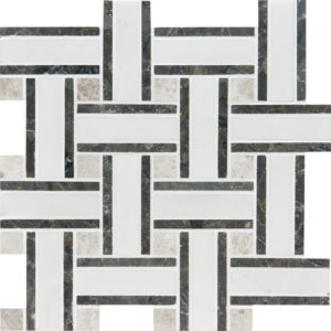 Aspen White Honed Lattice Marble Mosaics 30,5x30,5