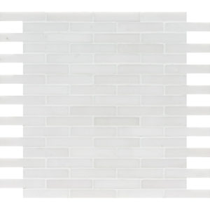 Aspen White Honed 1,5x7,6 Marble Mosaics 30,5x30,5