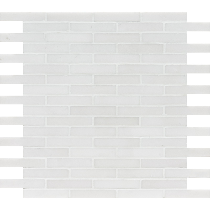 Aspen White Honed 30,5x30,5 5/8x3 Marble Mosaics