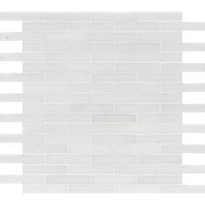 Aspen White Polished 1,5x7,6 Marble Mosaics 30,5x30,5