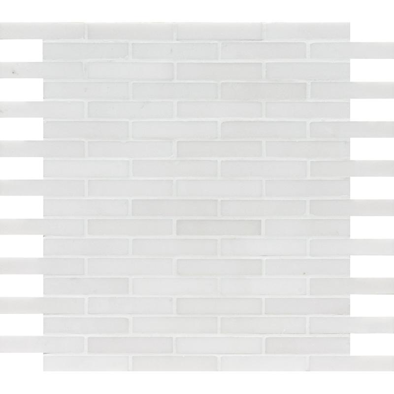 Aspen White Polished 30,5x30,5 5/8x3 Marble Mosaics