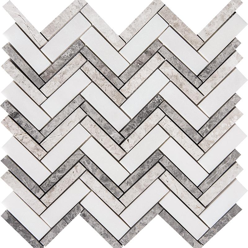 Granada Blend Polished 30,5x30,5 Herringbone Marble Mosaics