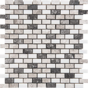 Granada Blend Polished 1,5x3 Marble Mosaics 30,5x30,5