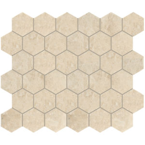 Cappuccino Polished Hexagon Marble Mosaics 26,5x31