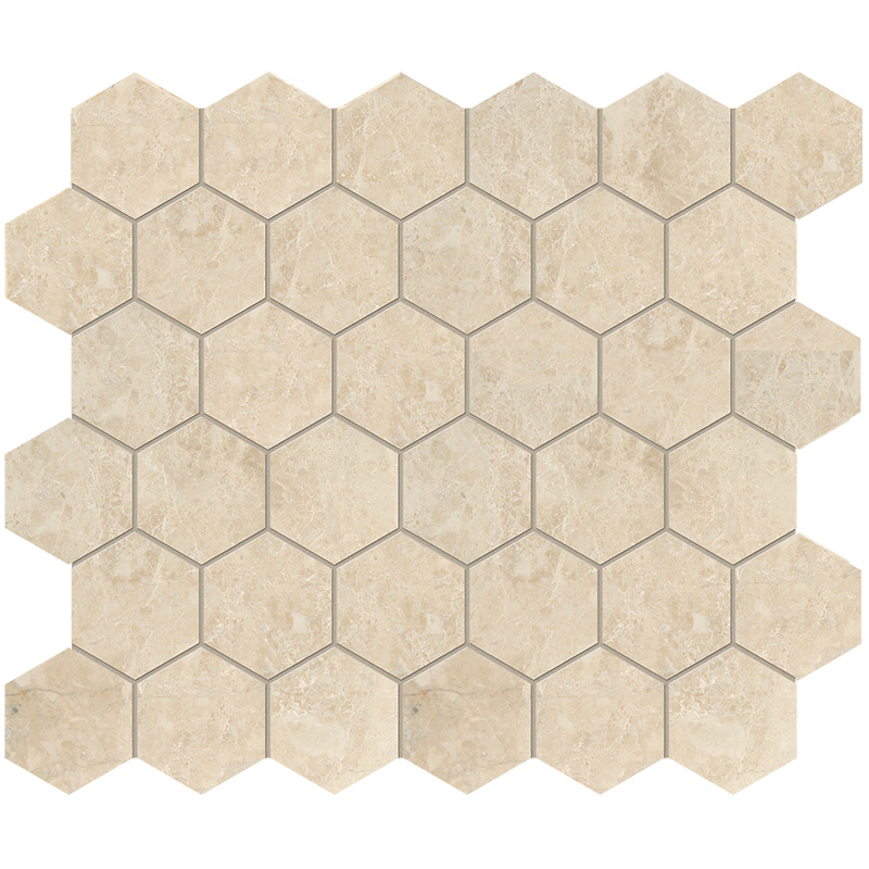Cappuccino Polished 26,5x31 Hexagon Marble Mosaics