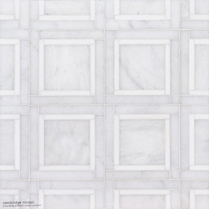 Snow White, Avalon Multi Finish Cambridge Marble Mosaics 32,7x32,7