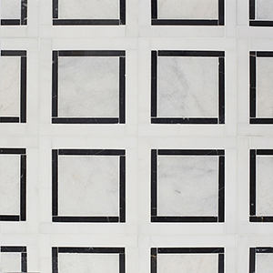 Glacier, Black, Snow White Multi Finish Cambridge Marble Mosaics 32,7x32,7