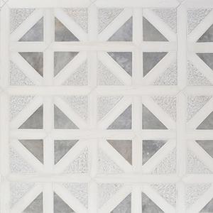 Snow White, Avenza Multi Finish Classic Lattice Marble Mosaics 37,5x37,5