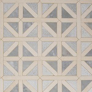 Avenza, Palisandra, Champagne Multi Finish Classic Lattice Marble Mosaics 37,5x37,5