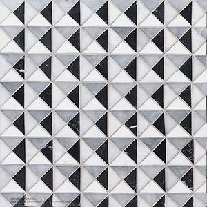 Black, Glacier, Allure, Snow White Multi Finish Devon Marble Mosaics 31,7x31,7