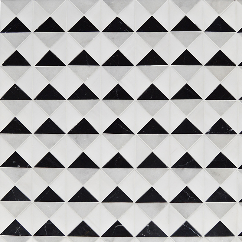 Glacier, Black, Snow White Multi Finish Devon Marble Mosaics 31,7×31,7
