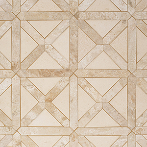 Champagne, Diana Royal Honed Large Lattice Marble Mosaics 35,2x35,2