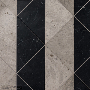 Britannia, Black Honed Mcm Square Marble Mosaics 20x20