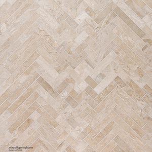 Diana Royal Honed Mixed Herringbone Marble Mosaics 41,4x30,7