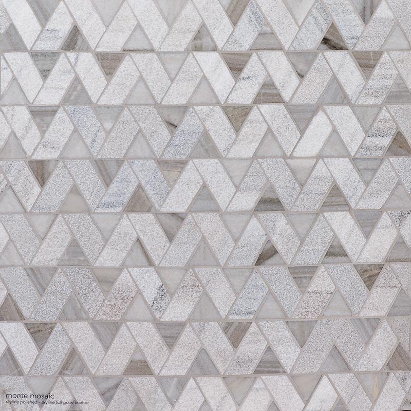 Skyline Multi Finish Monte Marble Mosaics 31,5×31,5