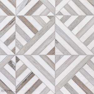 Skyline, Snow White Honed Ponte Marble Mosaics 36,4x36,4