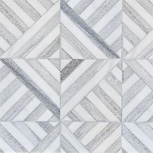 Snow White, Skyline Multi Finish Ponte Marble Mosaics 36,4x36,4